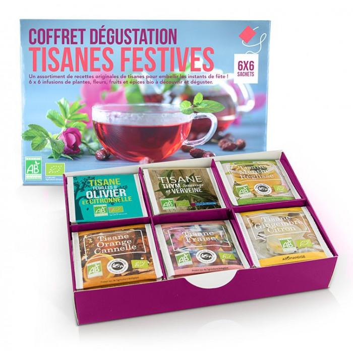 Coffret Dégustation Tisanes Festives - Tisanes Bio - Aromandise - produit