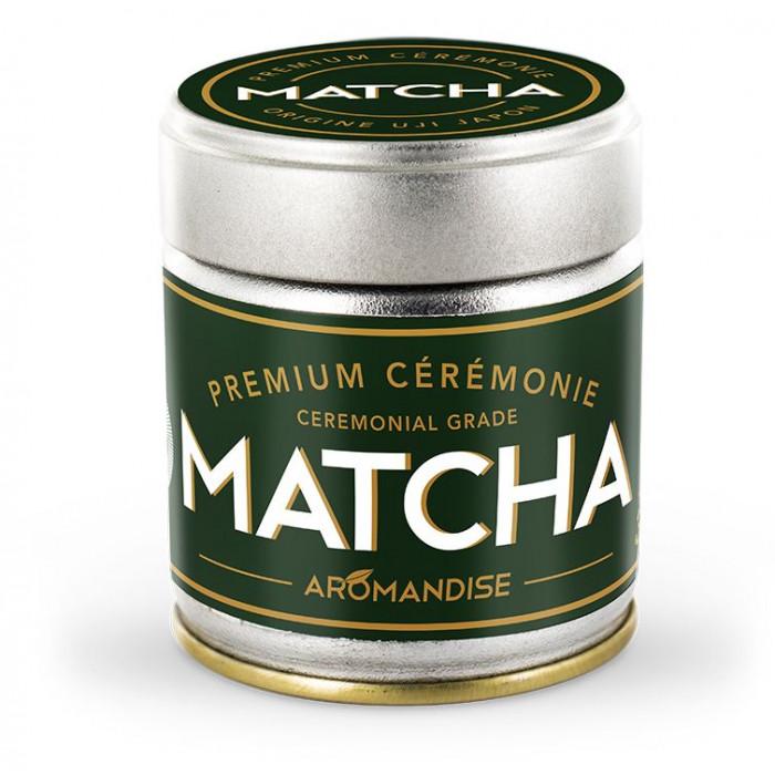 Thé Vert Matcha de Cérémonie - Premium - Aromandise - packaging av