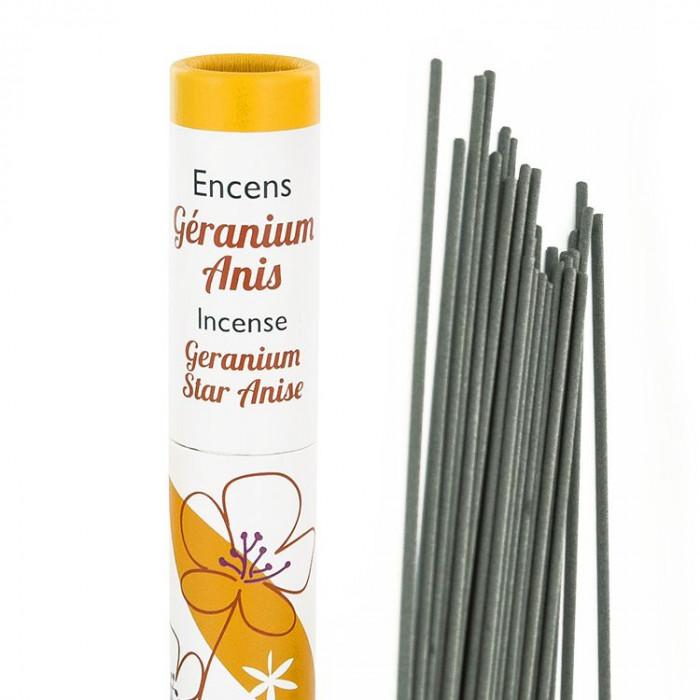 Herbosense Géranium, Anis - Les Encens du Monde - Aromandise - packaging