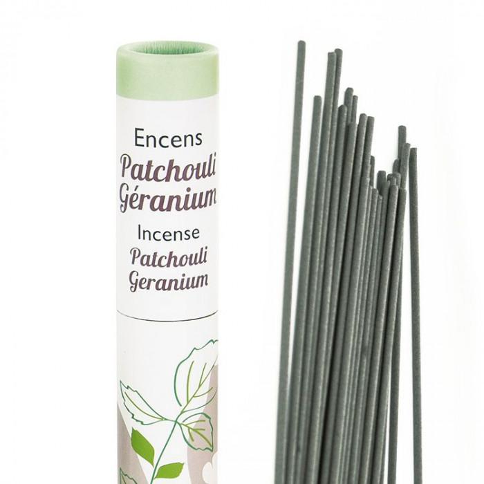 Herbosense Patchouli, Géranium - Les Encens du Monde - Aromandise - packaging