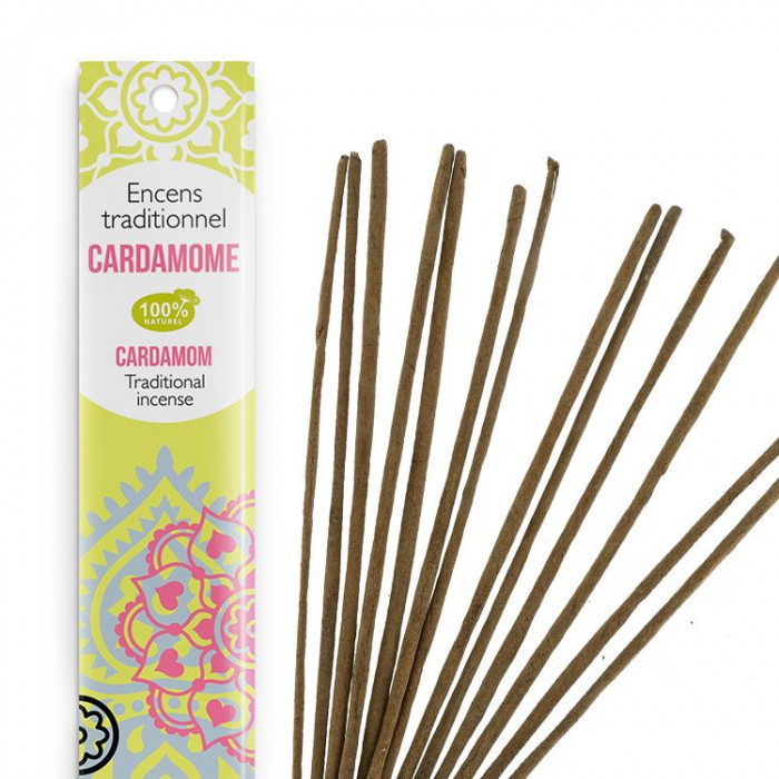 Encens Indien Haute Tradition - Cardamome - Les Encens du monde - Aromandise - av2