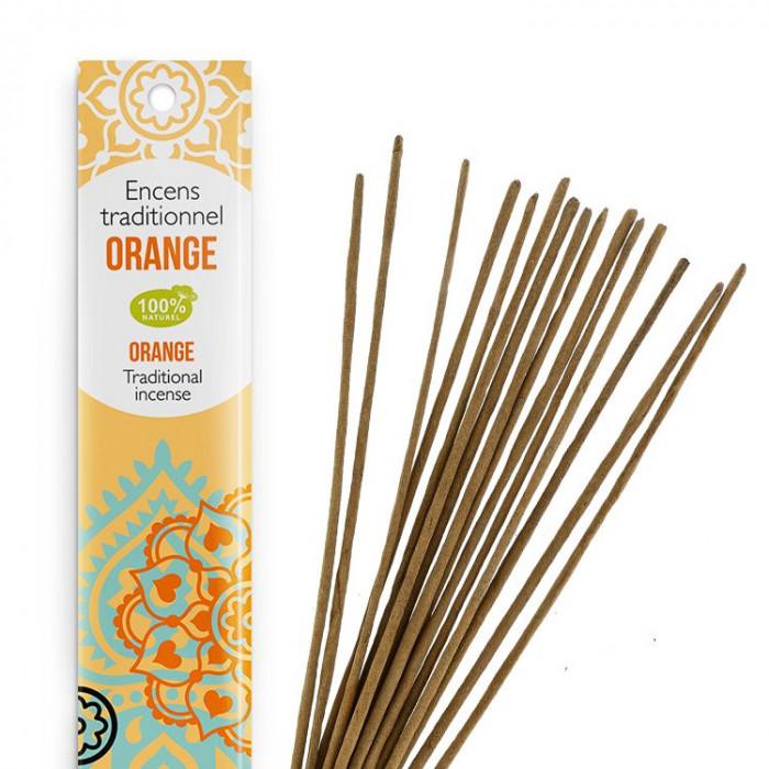 Encens Indien Haute Tradition - Orange - Les Encens du monde - Aromandise - av 2