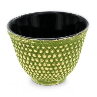 Tasse en fonte de Chine vert et dorée - Aromandise