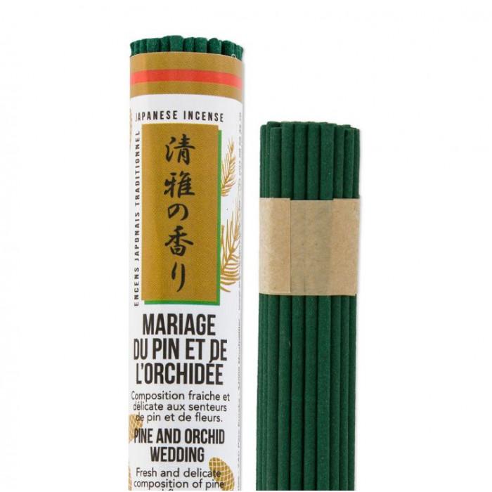 Rouleau japonais court Mariage du Pin et de l'Orchidée - Les Encens du Monde - Aromandise - produit