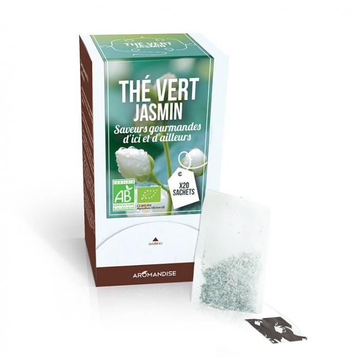 Thé vert jasmin - Thés Gourmands - Aromandise - produit sachet