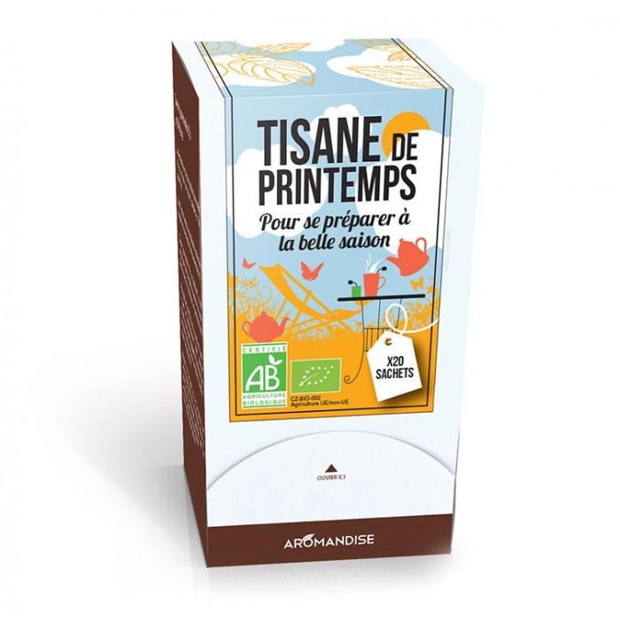 Tisane de printemps - tisanes de saison bio - Aromandise - produit