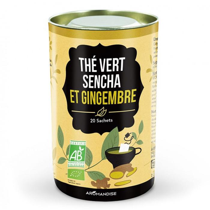 Thé vert Sencha et gingembre - Thés gourmands - Aromandise - produit av
