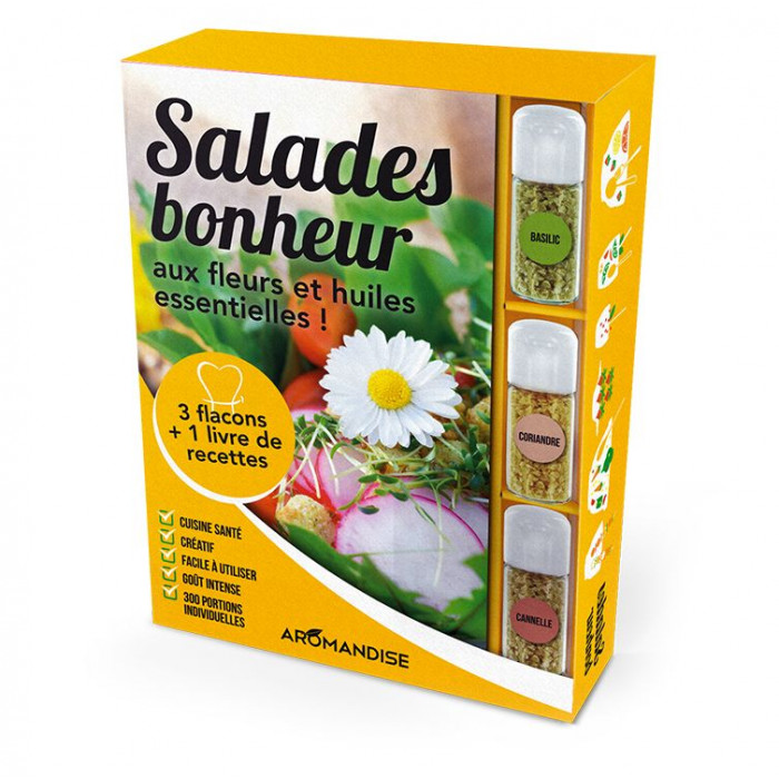 Coffret Salades Bonheur - Cristaux d'Huiles Essentielles à cuisiner - Aromandise - produit