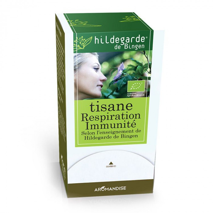 Tisane Respiration Immunité - Hildegarde de Bingen - Aromandise - packaging