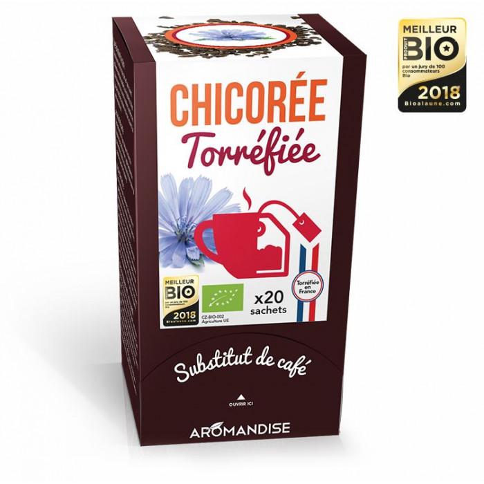Chicorée torréfiée - substitut de café - Aromandise