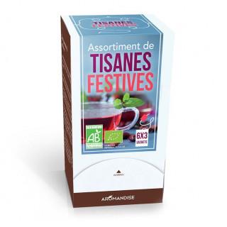 Assortiment Tisanes de Fêtes - Tisanes bio - Aromandise - produit