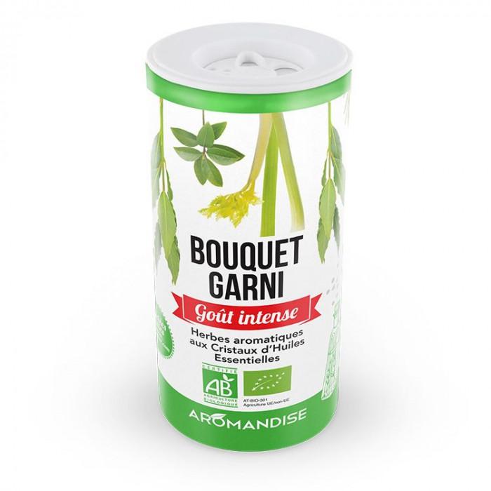 Bouquet garni - herbes aromatiques goût intense - Aromandise - face