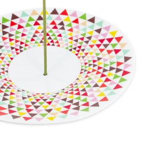 Coupelle mosaïque - porte encens - Les Encens du Monde - Aromandise - avant