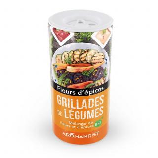 Grillades de légumes - Fleurs d'épices - Aromandise - face