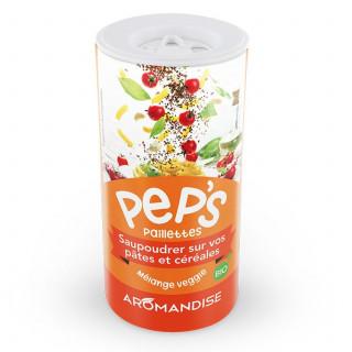 Pep's Paillettes pâtes et céréales - mélange veggie - aromandise - face