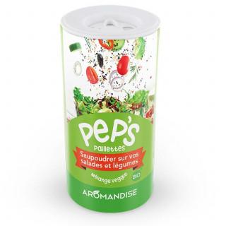 Pep's Paillettes salades et légumes - mélange veggie- aromandise - face