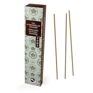 Vol d'hirondelles - Karin - Encens japonais - Les Encens du Monde - Aromandise - packaging ar