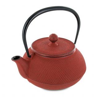 Théière Arare 0,9L rouge brique - Fonte japonaise - Iwachu - Aromandise - produit