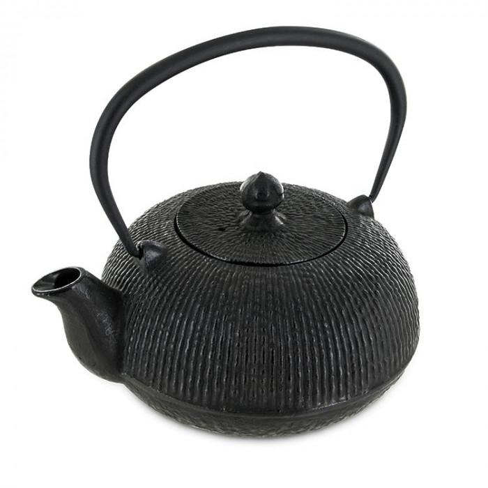Théière yuan 0,8L noire - théière fonte - Aromandise - produit