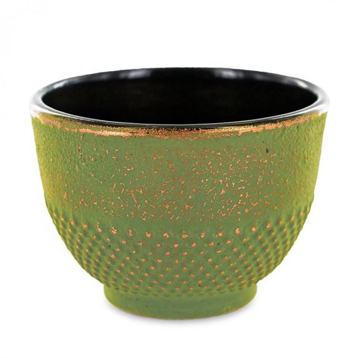 Tasse en fonte verte et dorée - Aromandise - produit