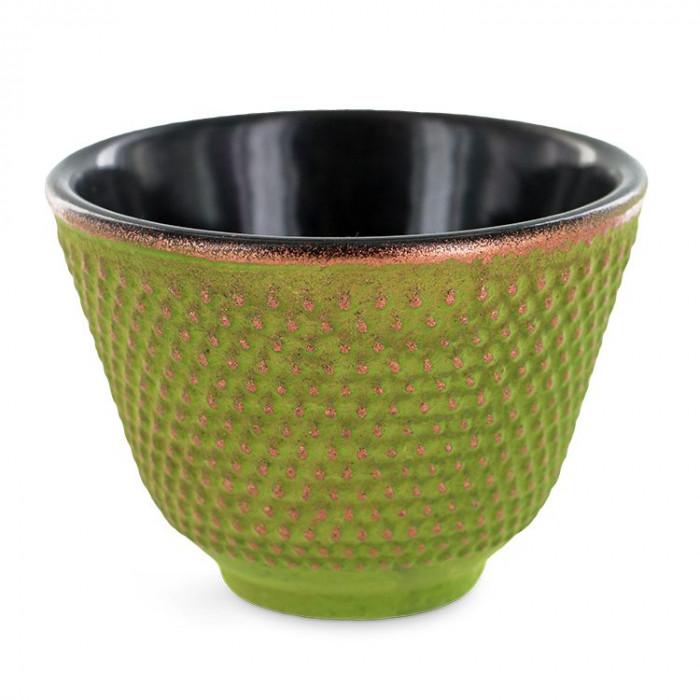 Coupelle Zen en fonte verte - porte -encens - Aromandise - produit