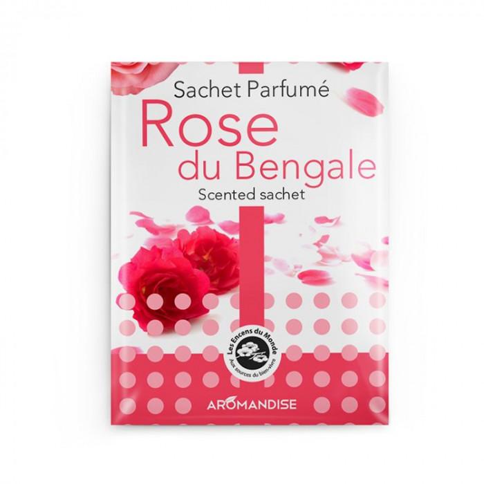 Sachet Parfumé - Rose du Bengale - Aromandise - packaging