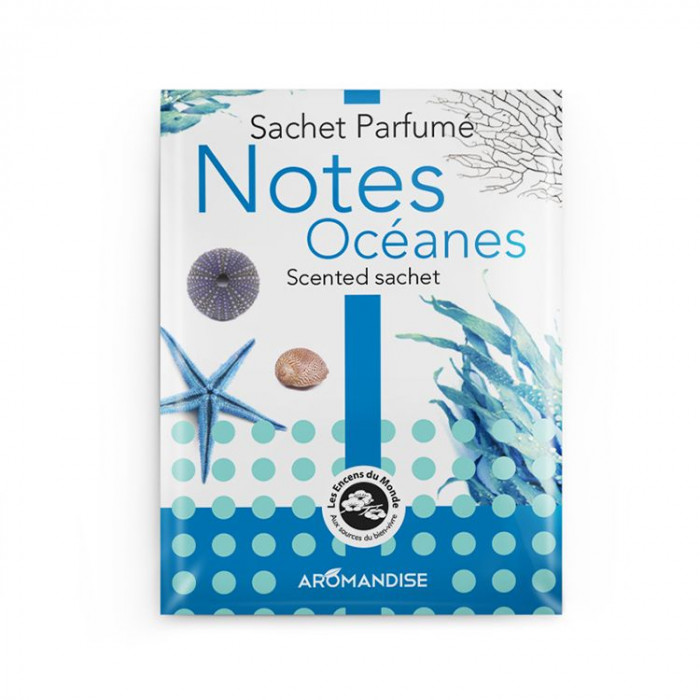Sachet parfumé - Notes océanes - Aromandise - packaging