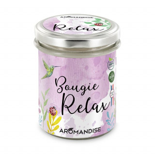 Bougie Relax - bougie d'ambiance - face - Aromandise