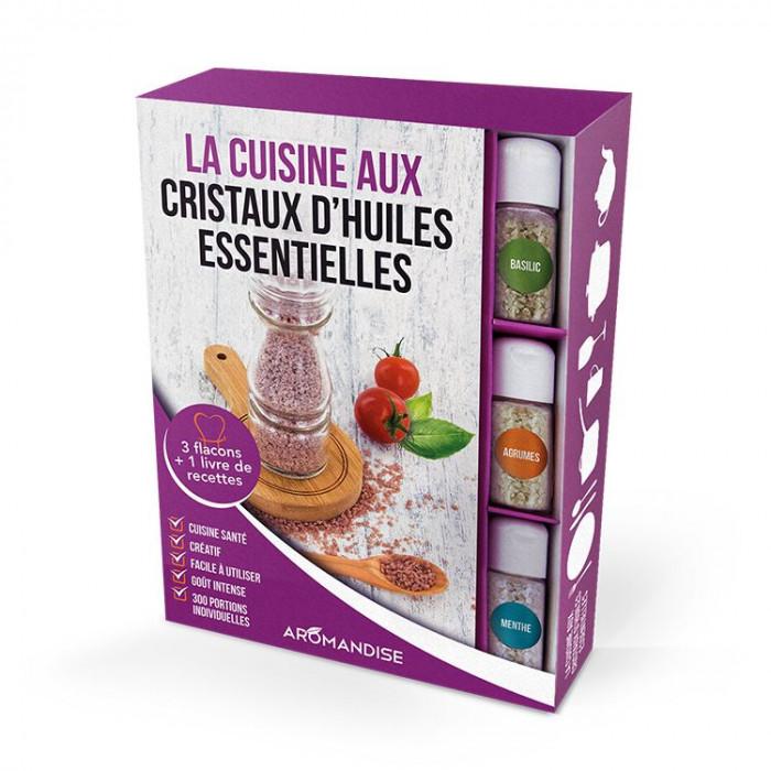 Coffret Cristaux d'Huiles Essentielles - Cristaux d'Huiles Essentielles à cuisiner - Aromandise - produit