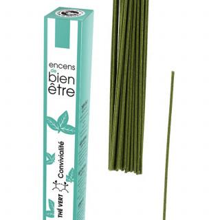 Encens Aromambiance - Thé vert - Les Encens du Monde - Aromandise - packaging av