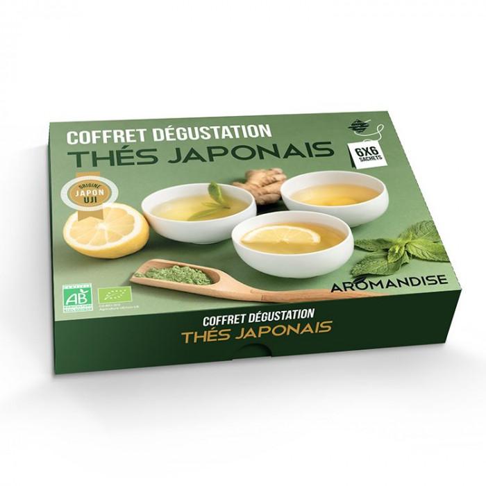 Coffret thés japonais en infusettes - vue de 3/4 - Aromandise