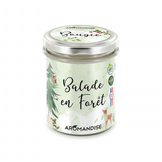 Bougie Balade en Forêt - bougie d'ambiance - Aromandise - face