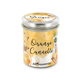 Bougie d'ambiance Orange Cannelle - Aromandise - face