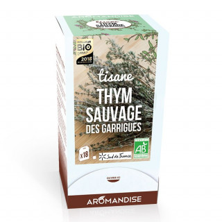 Tisane thym sauvage des garrigues - Aromandise - Packaging