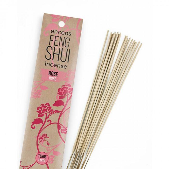 Encens Feng Shui élément terre - Rose - Les Encens du Monde - Aromandise - packaging av