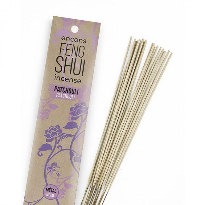 Encens Feng Shui élément métal - Patchouli - Les Encens du Monde - Aromandise - packaging av