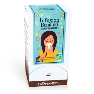 Tisane Benifuki Respiration Immunité - Aromandise - packaging