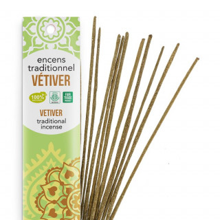 Encens Indien Haute Tradition - Vétiver - Les Encens du monde - Aromandise - Packaging