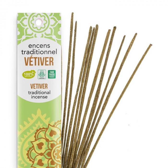 Encens Indien Haute Tradition - Vétiver - Les Encens du monde - Aromandise - Packaging