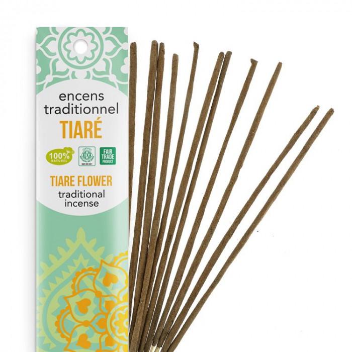 Encens Indien Haute Tradition - Tiaré - Les Encens du monde - Aromandise - Packaging