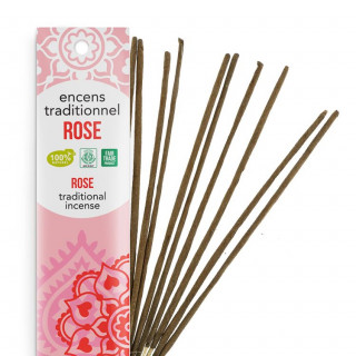 Encens Indien Haute Tradition - Rose - Les Encens du monde - Aromandise - Packaging