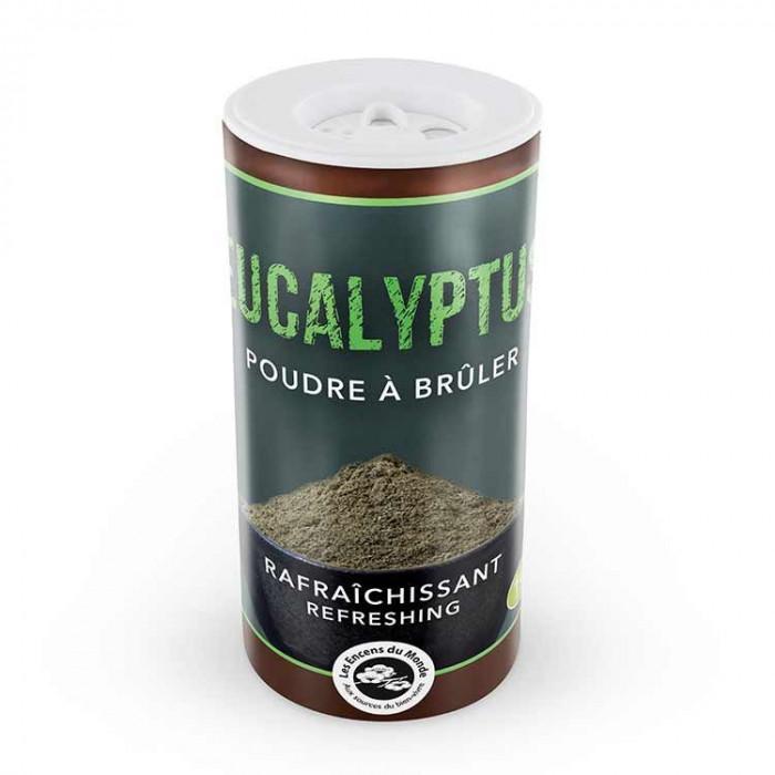 Poudre d'Eucalyptus - Les Encens du Monde - Aromandise - packaging av