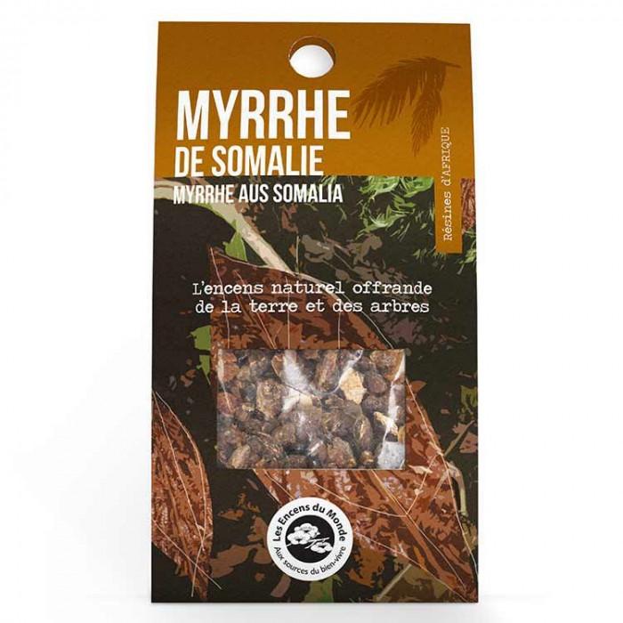 Myrrhe de Somalie - résines - Les Encens du Monde - Aromandise - packaging av