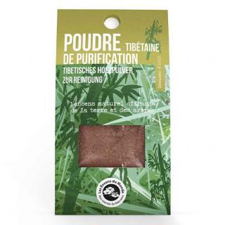 Poudre de Purification Tibétaine - résines - Les Encens du Monde - Aromandise - packaging av