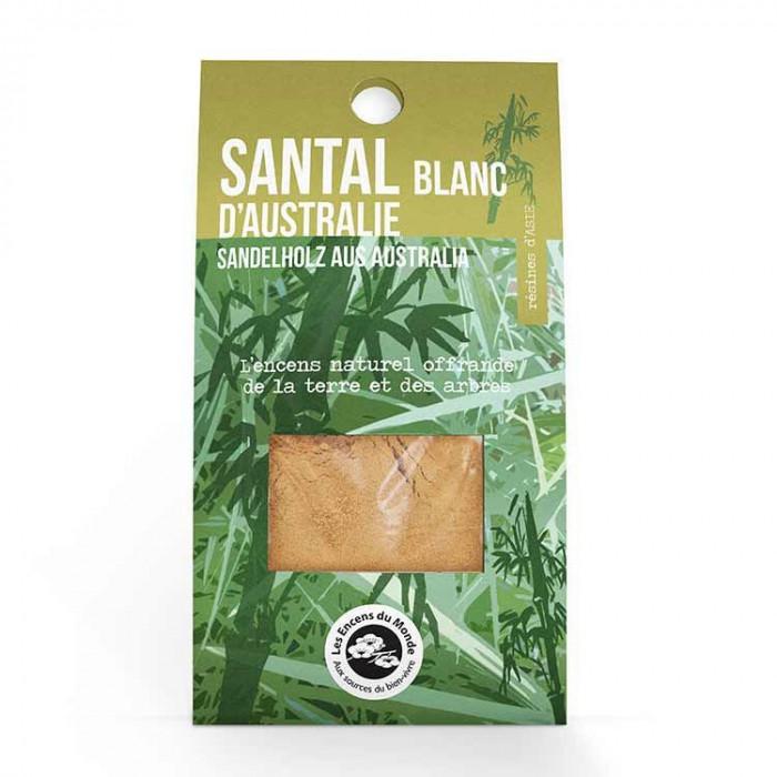 Santal Blanc Australien - résines - Les Encens du Monde - Aromandise - packaging av