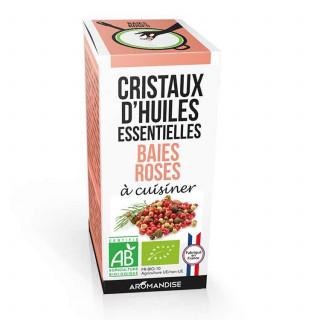 baies roses - cristaux d'huiles essentielles - Aromandise - pack