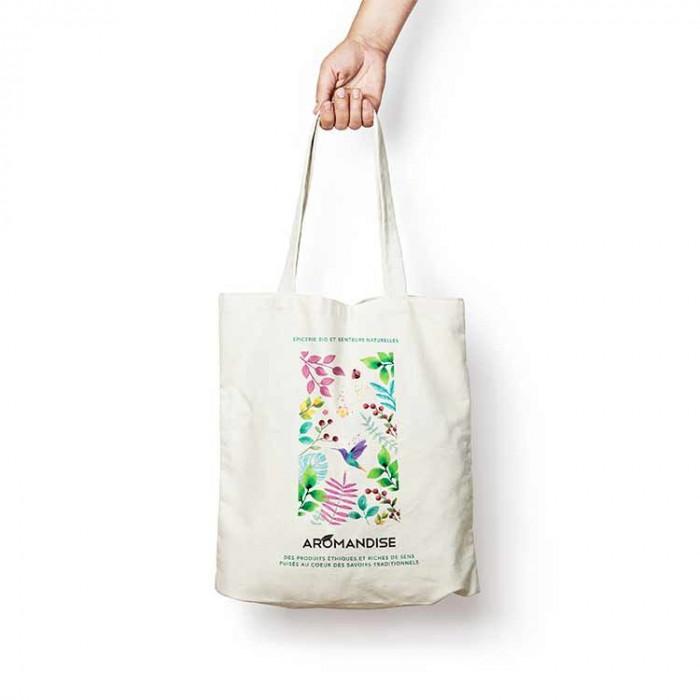 Tote bag AROMANDISE - face