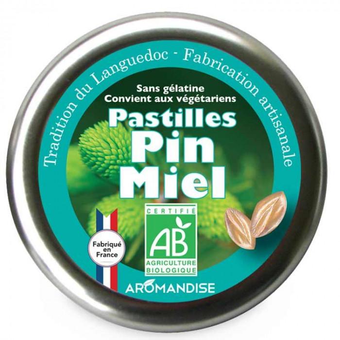 Pastilles pin miel - face - Aromandise