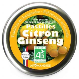 Pastilles citron ginseng - Confiserie du Languedoc - face - Aromandise