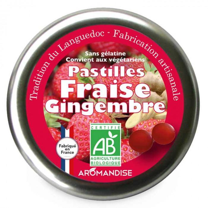 Pastilles Fraise Gingembre - Confiserie du Languedoc - face - Aromandise